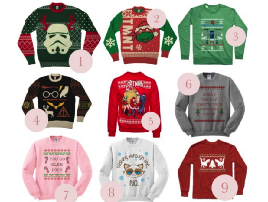 Christmas Sweaters for Every Fandom